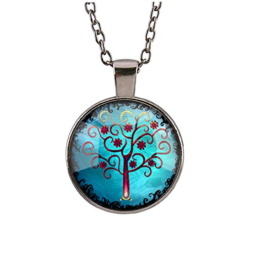 papaya-silver-pendant-necklace-lover-circle-of-life-opal-necklace