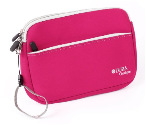 """Duragadget Pink """"Travel"""" Water Resistant Zip Cover With Front Storage Pocket For Acer Iconia A700 (32Gb, Wifi), Acer A1-811-83891G01nw, Acer A1-811, Iconia Tab A500 (Nvidia Tegra 250 Dual Cortex A9) & A501 10.1 Inch Tablet"""
