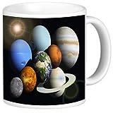 Rikki Knight Ceramic Coffee Mug, Solar System Planets