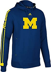 Michigan Wolverines Adidas 2012 Sideline Swagger Hooded Sweatshirt by adidas