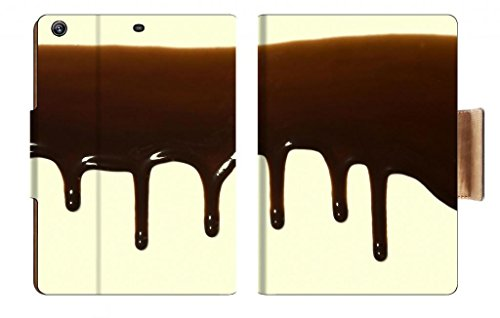 Coffee Chocolate Dripping On A Solid White Texture Punktail'S Collections Apple Ipad Air Retina Display 5Th Flip Case Stand Smart Magnetic Cover Made To Order Premium Deluxe Pu Leather