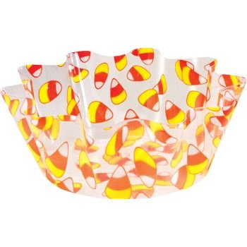 Candy Corn 8-inch Fluted Plastic Bowl-8