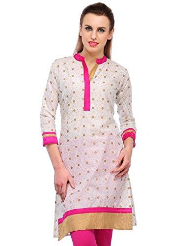Cenizas Women's Indian Tunic Top Cotton Kurti Large Multi-Coloured
