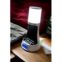 Dual CRL 1 Uhren-Radio mit LED-Lampe (Sleep-Timer, Snooze-Funktion, LCD-Display, PLL-UKW-Radio) Wei�