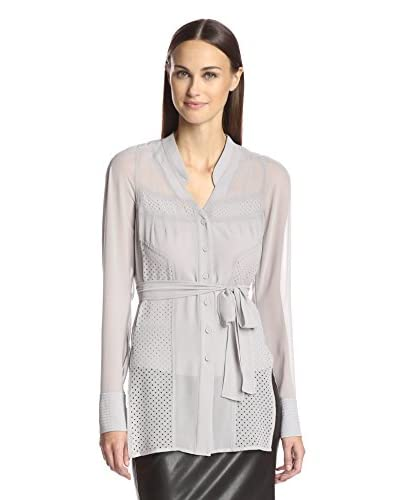 Byron Lars Women's Belted Top with Perforation Detail