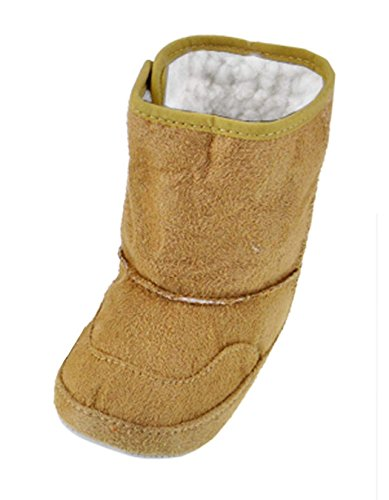 Arshiner Baby Girls Boys Infant Toddler Winter Fur Shoes Snow Boots Warm,Khaki(6-9m)