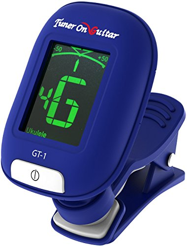 Guitar Tuner Clip On, Tune Acoustic & Electric Guitars, Bass, Ukulele and Violin, Easy to Use, Accurate, Fast, Turn 360 Degrees, Chromatic, Electronic, Enhance Your Tuning Experience Now!