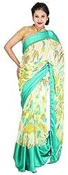 Kasturi Sarees Basement Women's Georgette Saree (Green)