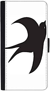 Snoogg Bird Vector Element Graphic Snap On Hard Back Leather + Pc Flip Cover ...