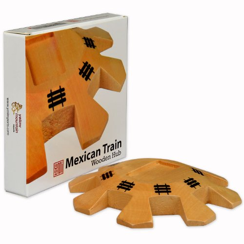 YMI Mexican Train Dominoes Wooden Hub Centerpiece