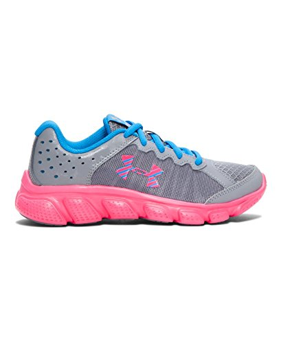 Under Armour Girl's Under Armour Girls' Assert 6 Running Shoes Shoe, Steel/Electric Blue, 2 Medium US Toddler (Under Armour Assert Ii compare prices)