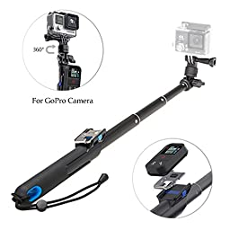 Deekec Selfie Stick for Gopro, Adjustable Selfie Pole 39 inches [Compatible with all GoPro cameras] (Kit 1)