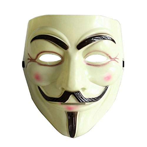 WenMei Halloween's V for Vendetta Mask Anonymous Guy Fawkes Fancy Dress Adult Costume
