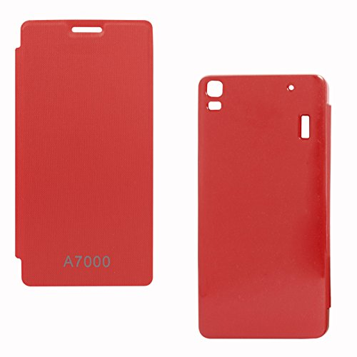 DMG Back Replace Flip Book Cover Case for Lenovo A7000 (Red)  available at amazon for Rs.199