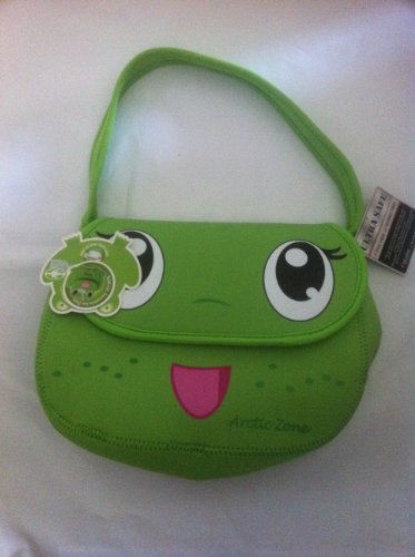 Microban Frog Insulated Lunch Box with Matching Reusable Ice Pack