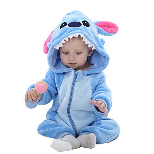 6c94080ae Idgirl Unisex-baby Winter Flannel Romper Blue-star Onesie - Import It All