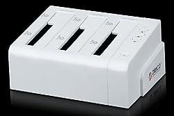 ORICO 6638USJ-C -WH 3 - Bay Tool Free 2.5 / 3.5 - inch SATA to USB HDD Docking Station , 1 to 2 Hard Drive Cloning kit Docking (White)