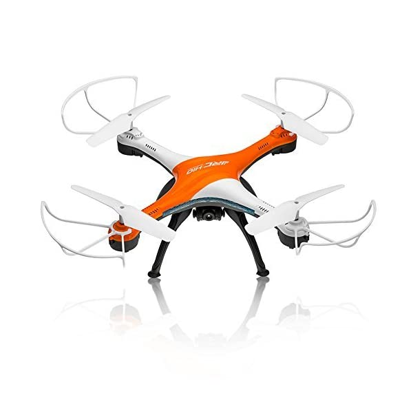 Drones-with-Camera-OOTTOO-HD-2MP-Camera-Drone-24G-4CH-6Axis-RC-Quadcopter-Headless-Mode-One-Key-Return-UAV-Bonus-Battery-Helicopter-Orange