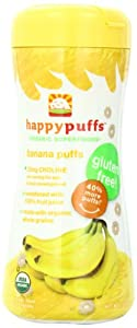Happy Baby Organic Puffs, Banana, 2.1 Ounce (Pack of 6)