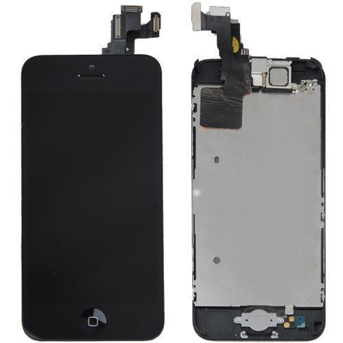 Orangehongkong Premium Lcd Display & Touch Screen Digitizer Assembly Replacement Parts With Spare Parts For Iphone 5C (Black)