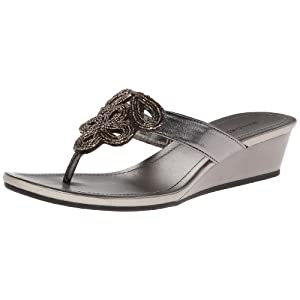 Bandolino Women's Bessie Dress Sandal,Pewter Synthetic,7 M US