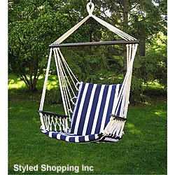 Deluxe Harmony Blue And White Hanging Hammock Sky Swing Chair Sale Agnfdsj