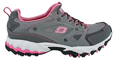 Women's Skechers, Spider All Road Trail Shoes CHARCOAL PINK 11 M