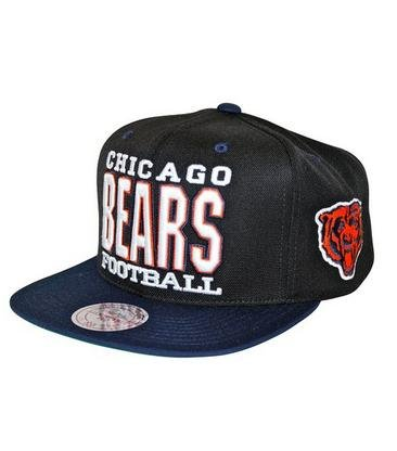 Mitchell & Ness Xl Type Men's Snapback NFL Chicago Bears Hat Cap (Chicago Bears Bucket Hat compare prices)