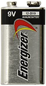 Energizer Max Alkaline 9V Batteries with Power Seal Plus, 5 Count