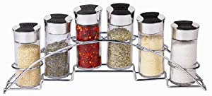 Home Basics 6-Piece Spice Rack Set, Half Moon by Home Basics