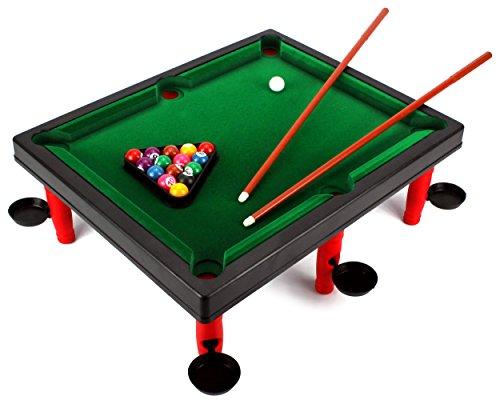 VT Versus World Champion Toy Billiard Pool Table Game w/ Table, Full Set of Billiard Balls, 2 Cues, Triangle