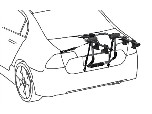 prorack 2 bike trunk carrier