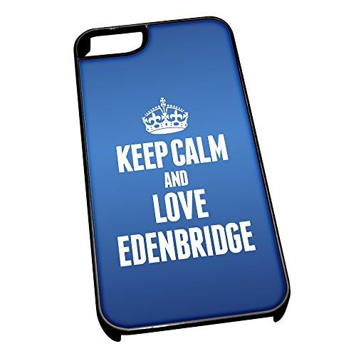 """Nero-Cover per iPhone 5/5s, blu 0232 """"Keep Calm and Love Edenbridge"""