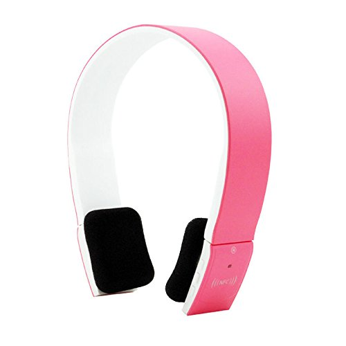 2.4Ghz Nfc Stero Bluetooth Headset Headphone 2Ch Edr Mic For Iphone Smartphone (Pink)