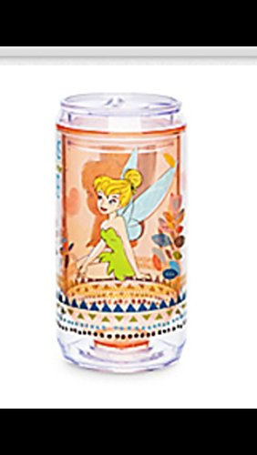 Walt Disney Peter Pan Tinker Bell Sip-top Reusable soda can bottle boa free cup tinkerbell water juice (Clear Soda Can compare prices)