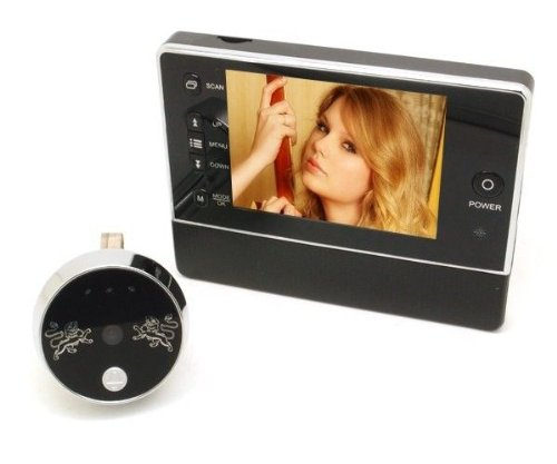 """(3.5 Inches Lcd Screen & 120 Wide Degree Angles Viewing & Night Vision Function & Do Not Disturb Function & Photo Taking Function & Video Recording Function & 3X Digital Zoom & Support Up To 32 Gb Micro Sd ) 3.5"""" Lcd Screen Digital Door Peephole Viewer Ca"""