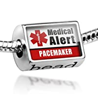 "Neonblond Beads Medical Alert Red ""Pacemaker"" - Fits Pandora Charm Bracelet from NEONBLOND Jewelry & Accessories"