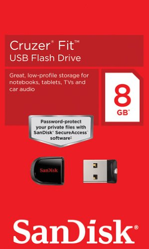 Sandisk USB フラッシュメモリ 超小型 Cruzer Fit CZ33 8GB サンディスク 海外パッケージ品