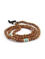 Ovalbuy 6mm Rudraksha Bodhi Beads Rosary Prayer Meditation 108 Japa Mala Buddhist