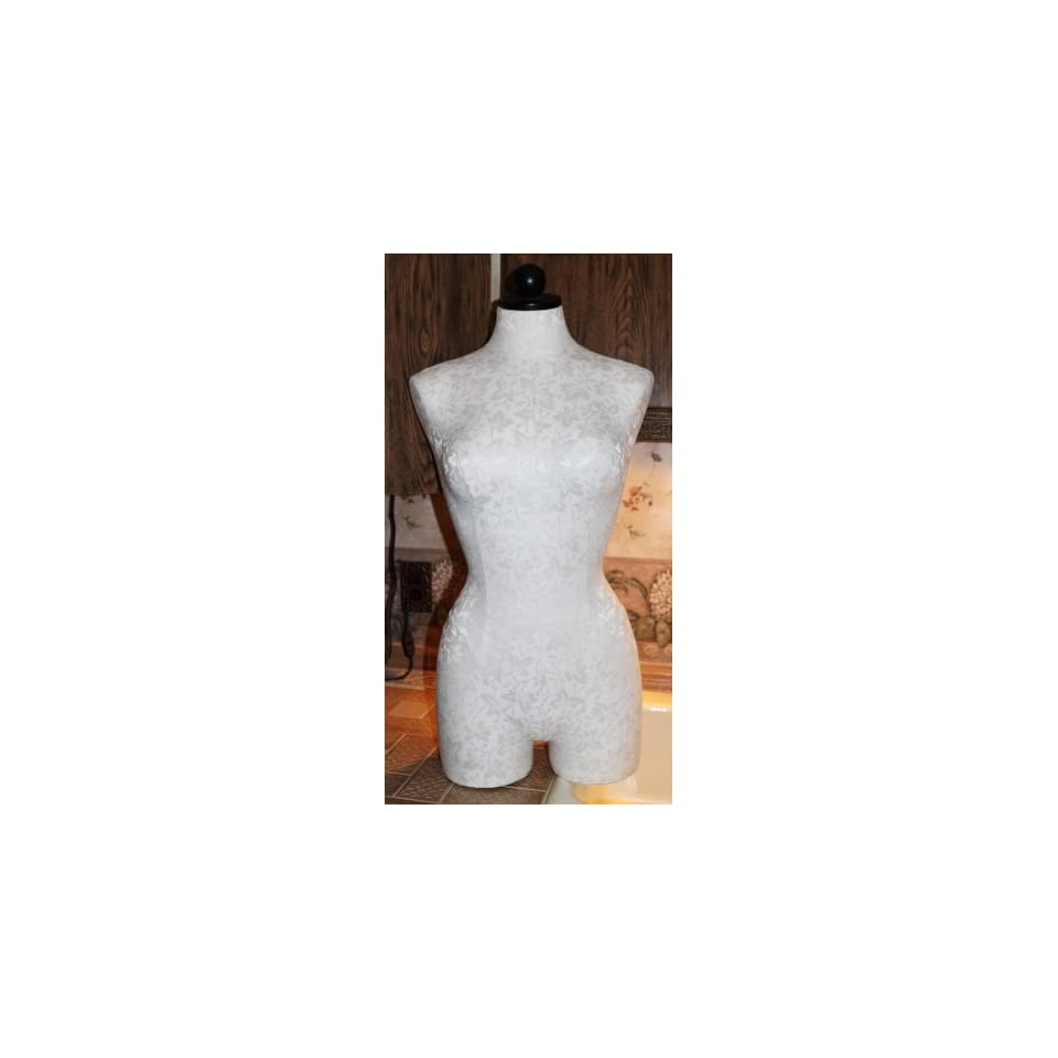 Seven Continents Female Torso Mannequin   Store Display   Tabletop Form White Fabric