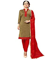 Krishna Present All New Design Of Green Color Cotton Dress Material With Dupatta..