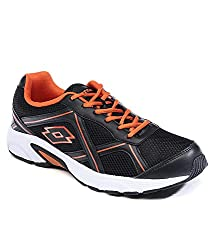 Lotto Mens Zest Black and Red Running Shoes - 6 UK