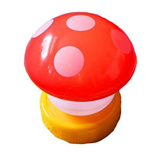 BuyHere LED Mushroom Night Lights, Red - 1