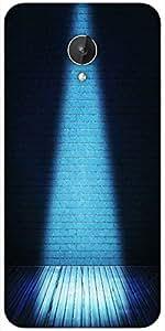 Snoogg Blue Interior Spotlight Backdrop Designer Protective Back Case Cover For Micromax Canvas Spark Q380