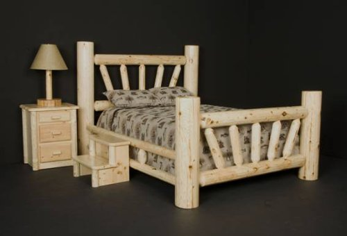 Viking Log Furniture Big Starburst Bed Panel