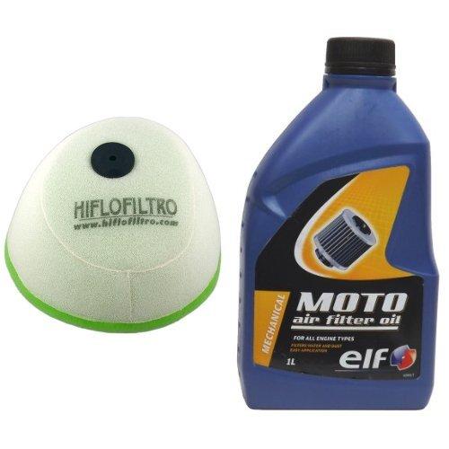Hiflofiltro HFF2016 Dual Stage Racing Foam Air Filter and Elf 802039 Foam Air Filter Oil - 1 Liter Bottle Bundle