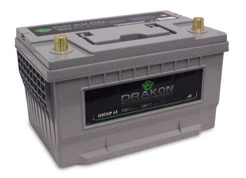 Drakon 40883 Gray/Blue 'Group 65' High Performance Pure Lead AGM Battery