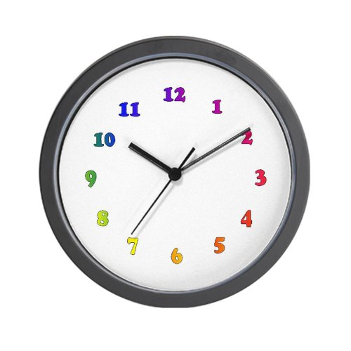 Rainbow Numbers Wall Clock Coconuas163