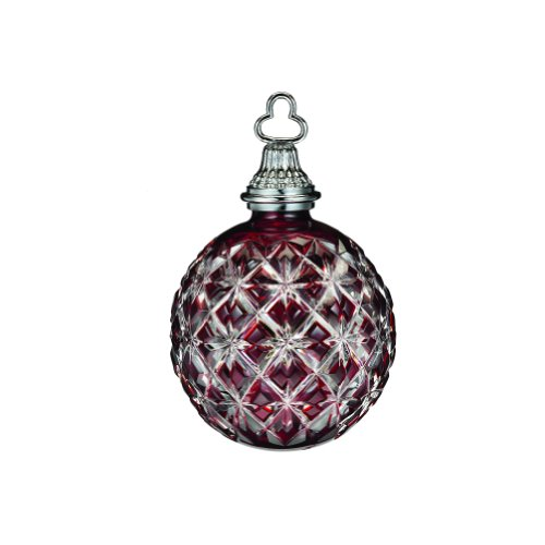 WATERFORD Annual 2013 Annual cased ball ornament ruby