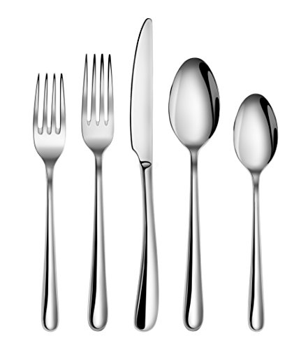 Artaste 56525 Rain II Forged 18/10 Stainless Steel Flatware 20 Piece Set, Service for 4, Silver (Forged Stainless Steel Flatware compare prices)
